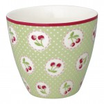 Latte cup Cherry berry p.green