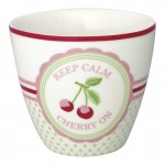 Latte cup Cherry mega white