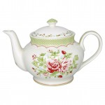Teapot round Mary white