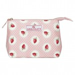 Cosmetic bag Strawberry pale pink small