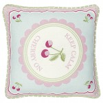 Cushion Cherry mega white piece printed 40x40cm