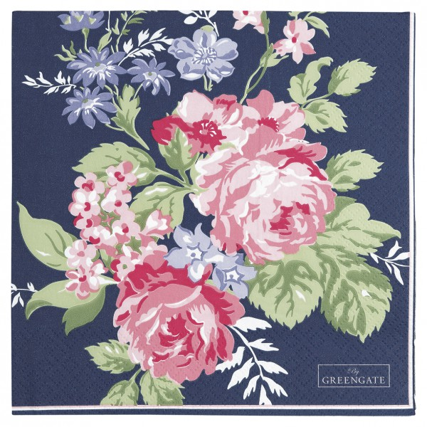 dbccae223d041 Napkin Rose dark blue large 20pcs - Charisma am Stadtplatz