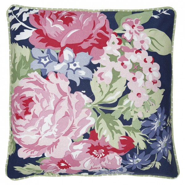 bea3474a791f1 Cushion Rose dark blue piece printed 50x50cm - Charisma am Stadtplatz