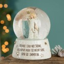 Snow globe with guardian angel