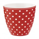 Latte Becher Spot red