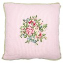 Cushion Franka pale pink w/embroidery 40x40cm