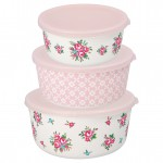 Round box Constance white set of 3