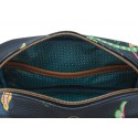 """Cosmetic Bag Square """"S"""" Jambo Flower Blue"""