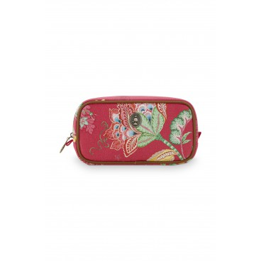 """Cosmetic Bag Square """"S"""" Jambo Flower Red"""