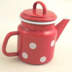 teapot - grey with dots