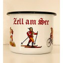 """Emaille-Becher """"Zell am See"""" Sommer- & Wintersport"""