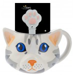 Mug with spoon Cat