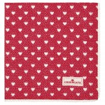 Napkin with lace Penny red