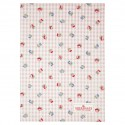Tea towel Viola check pale pink