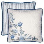 Cushion Donna blue w/embroidery 40x40cm
