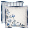 Kissen Donna blue w/embroidery 40x40cm