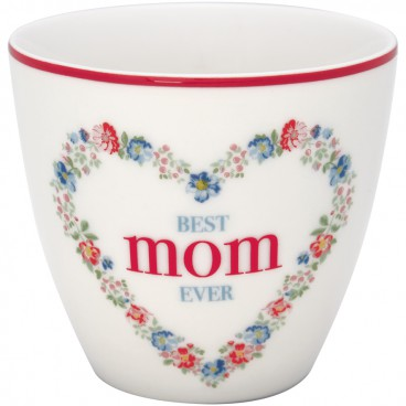Latte cup Mom white