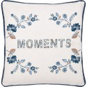 Cushion cover Mozy white Moments w embroid 40x40 cm