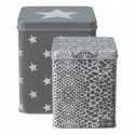 Tin box square - Alli grey small