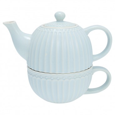 Tea for one Alice pale blue