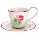 Cup & saucer Lily white