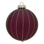 Ball glass Penelope plum w/gold