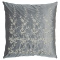 Kissen Flower grey w/gold 50x50cm