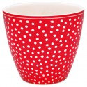 Latte Becher Dot red
