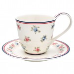 Cup & saucer Hailey white