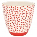 Becher Dot red w/gold