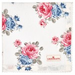 Napkin with lace Hailey white